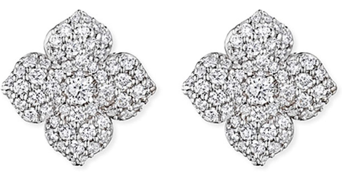Penny Preville Large Pavé Diamond Flower Earrings D2G2gIRUt