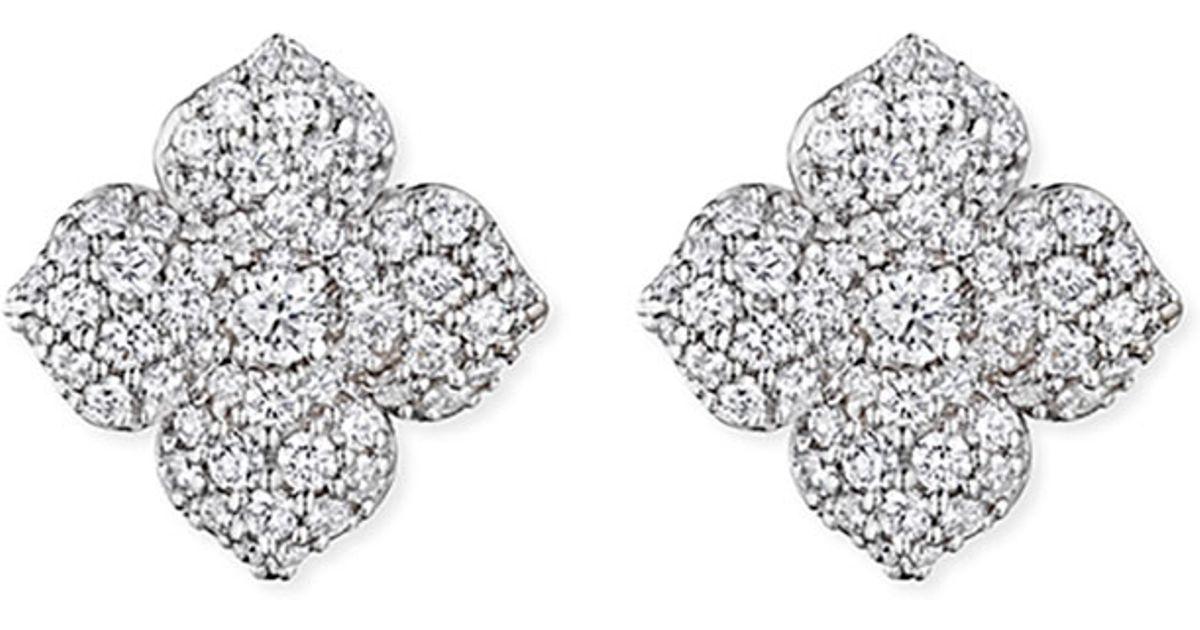 Penny Preville Diamond Pave Flower Stud Earrings pnK6e