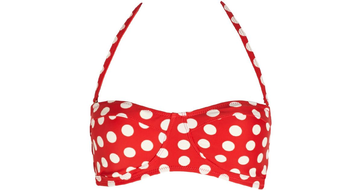 Red spotty bikini