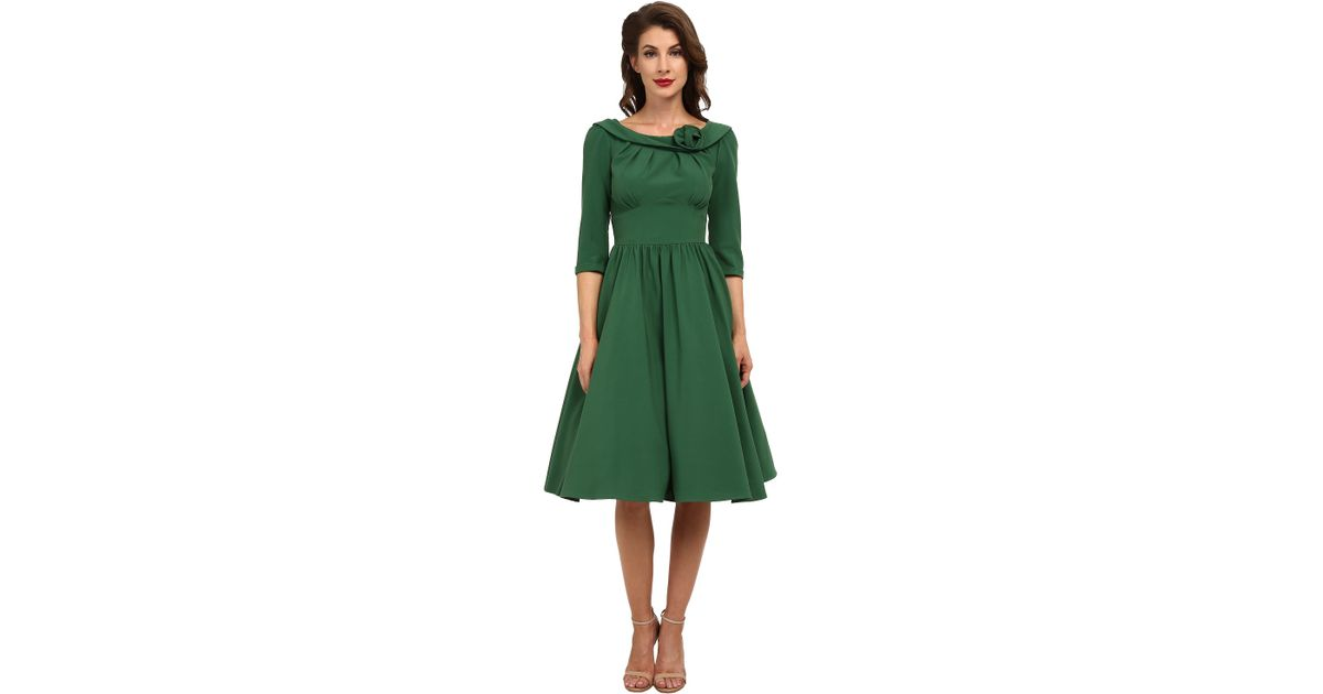 91ef9a2ed710 Stop Staring! Abbey Swing Dress in Green - Lyst