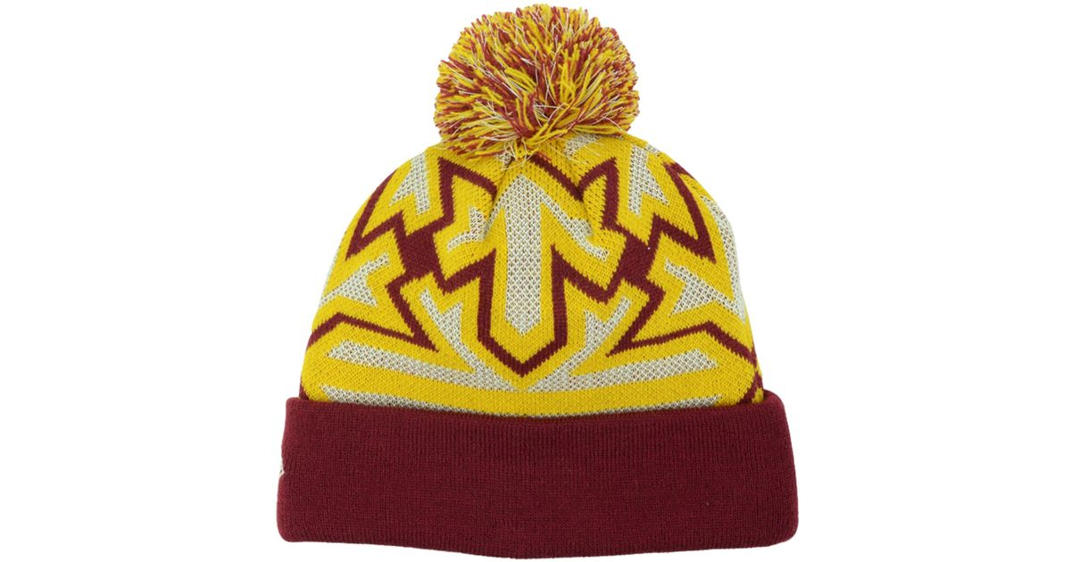 a664e84a435e70 ... gray black rebound cuffed knit hat with pom a07af 2a013; australia lyst  ktz cleveland cavaliers glowflake knit hat in purple for men 54a25 072cb
