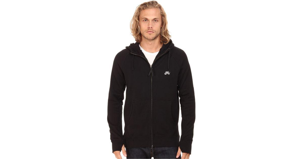 ddf7850fe Nike Sb Everett Graphic Full Zip Hoodie in Black for Men - Lyst