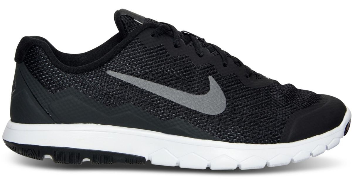 e9bb61fd006e6 Lyst - Nike Men s Flex Experience Run 4 Wide Width Running Sneakers From Finish  Line in Black for Men