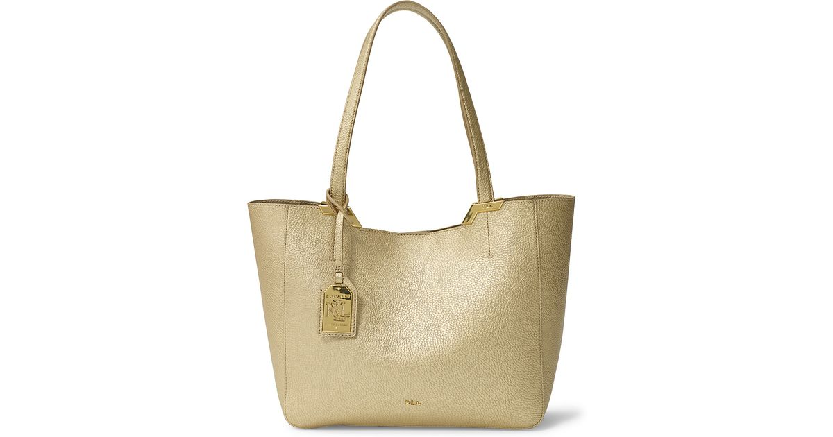 ... Lyst - Ralph Lauren Acadia Faux-leather Shopper in Metallic new cheap  13328 adb50 ... 8f716e347c