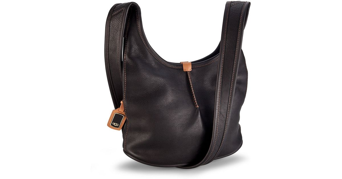 d3de27027b6d COACH Kristin Black Leather Crossbody hobo bag