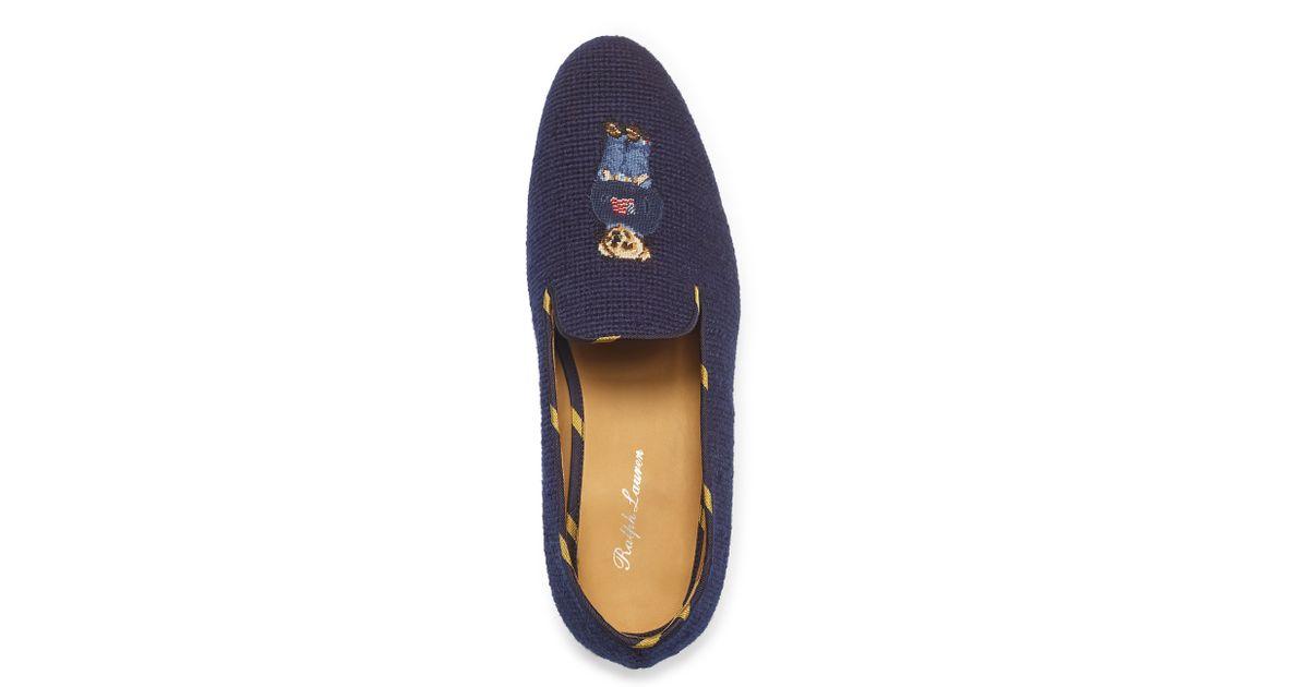 a4dbb916245c Lyst - Ralph Lauren Collis Polo Bear Slipper in Blue for Men