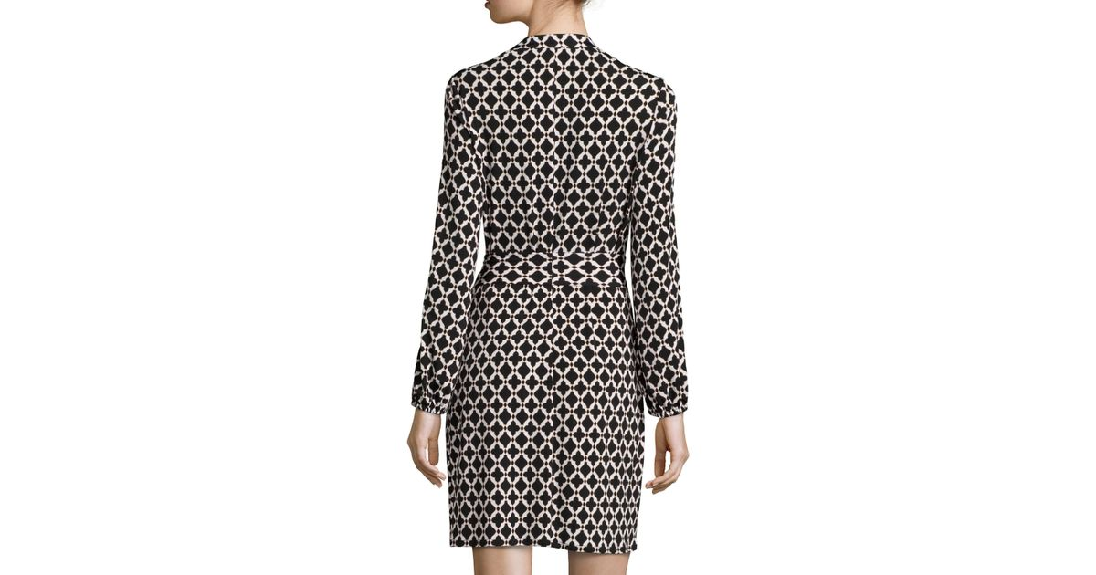 Laundry by shelli segal Printed LongSleeve Shirtdress in Black Lyst