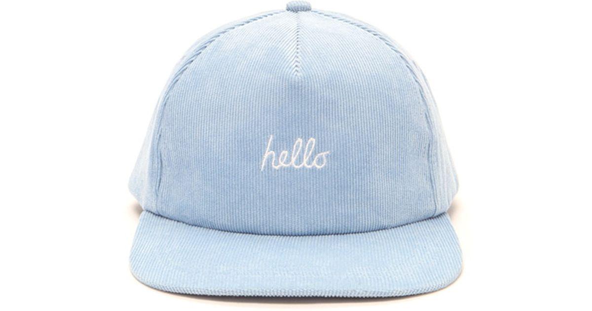 Lyst - Forever 21 Men Hello Baseball Cap in Blue for Men cd2faeaa54a