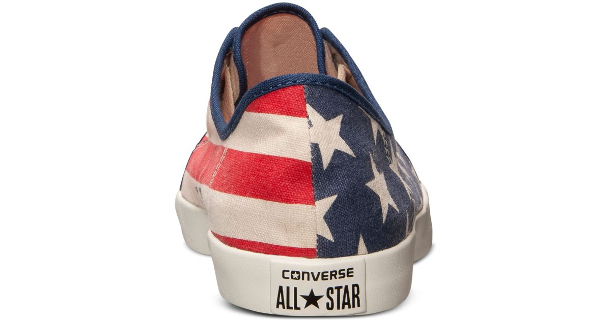 5a9e42a2a7f1 Lyst - Converse Mens All Star Riff Canvas Casual Sneakers From Finish Line  in Blue for Men