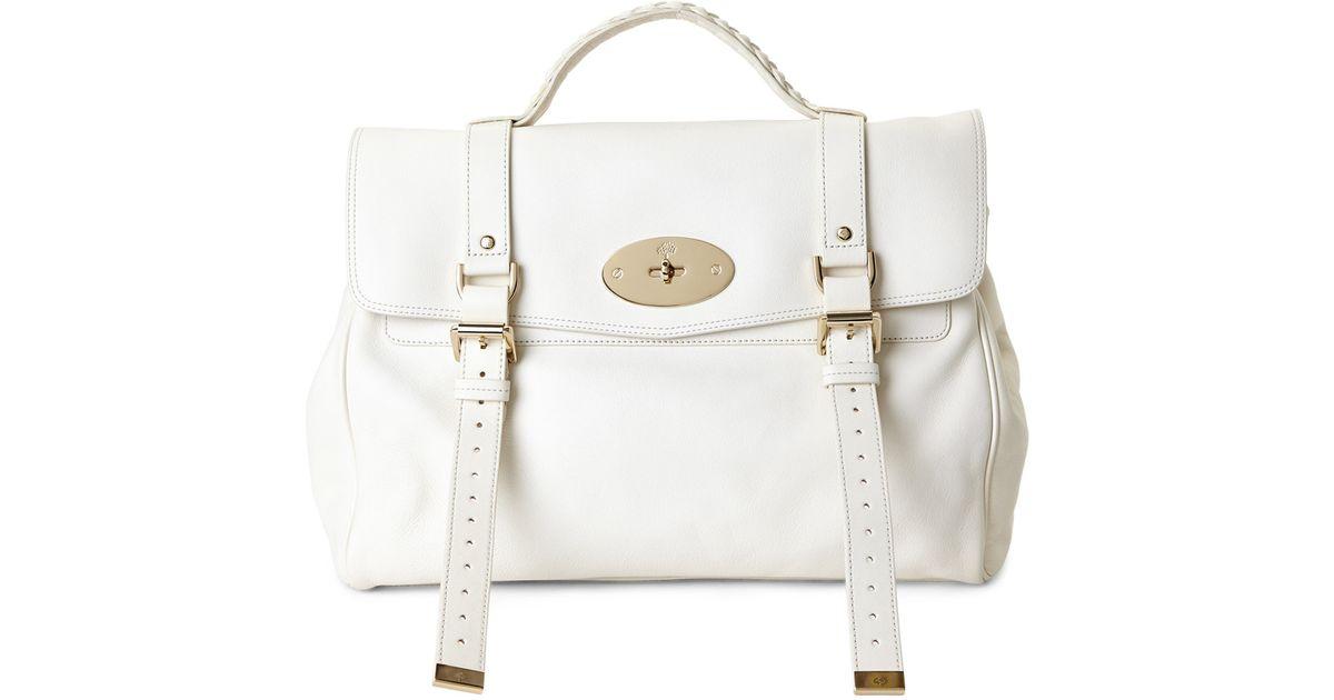 8df75f43dafc ... cheapest lyst mulberry cream oversized alexa handbag in white f42bf  de45e