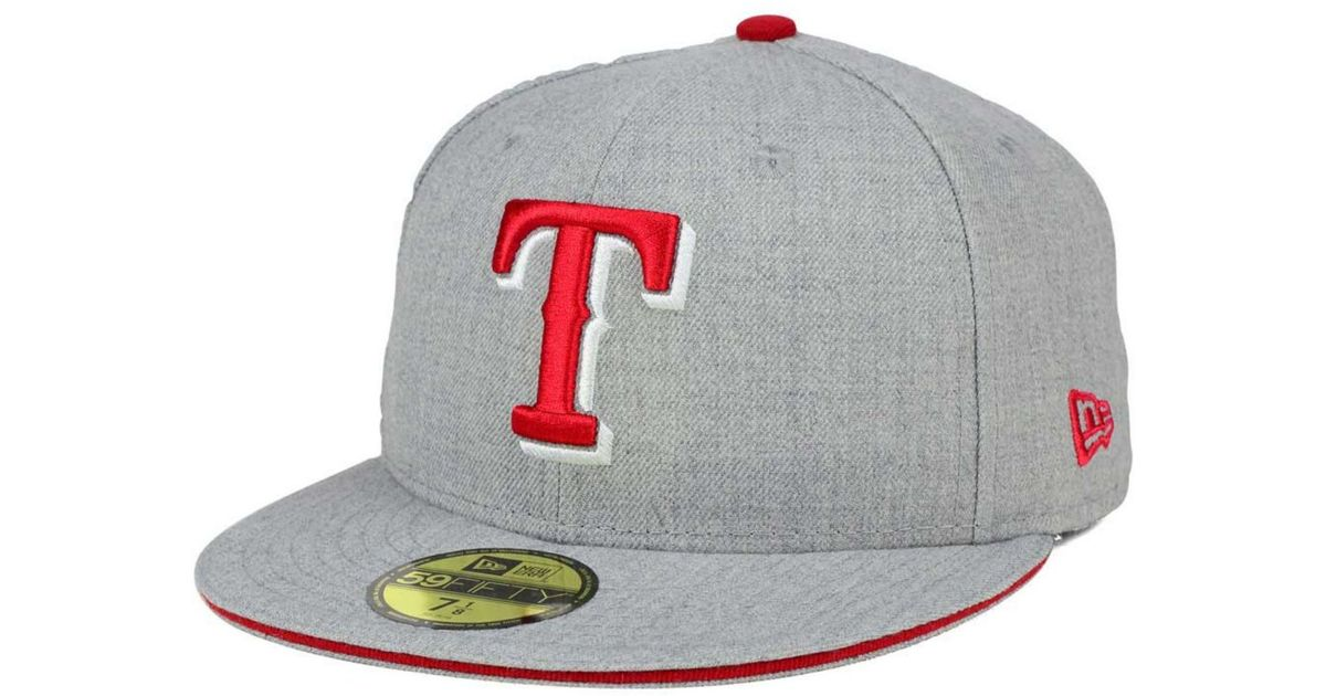 the latest 7464d 00f74 Lyst - KTZ Texas Rangers Heather Action 59fifty Cap in Gray for Men