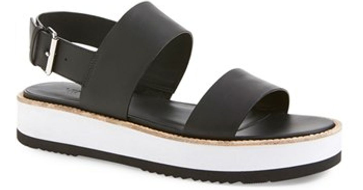 0dd5dc6d3b5 Lyst - Vince Mana Leather Platform Sandals in Black