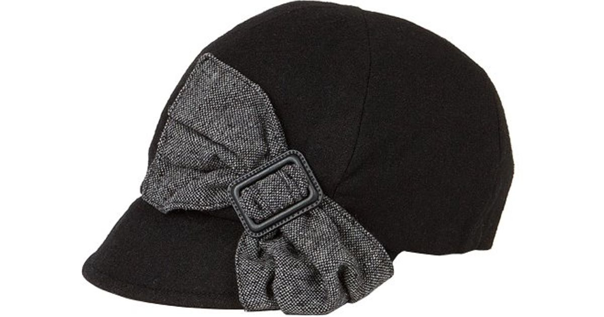 5ab3373a6e5 Lyst - San Diego Hat Company Womens Cap With Side Bow in Black