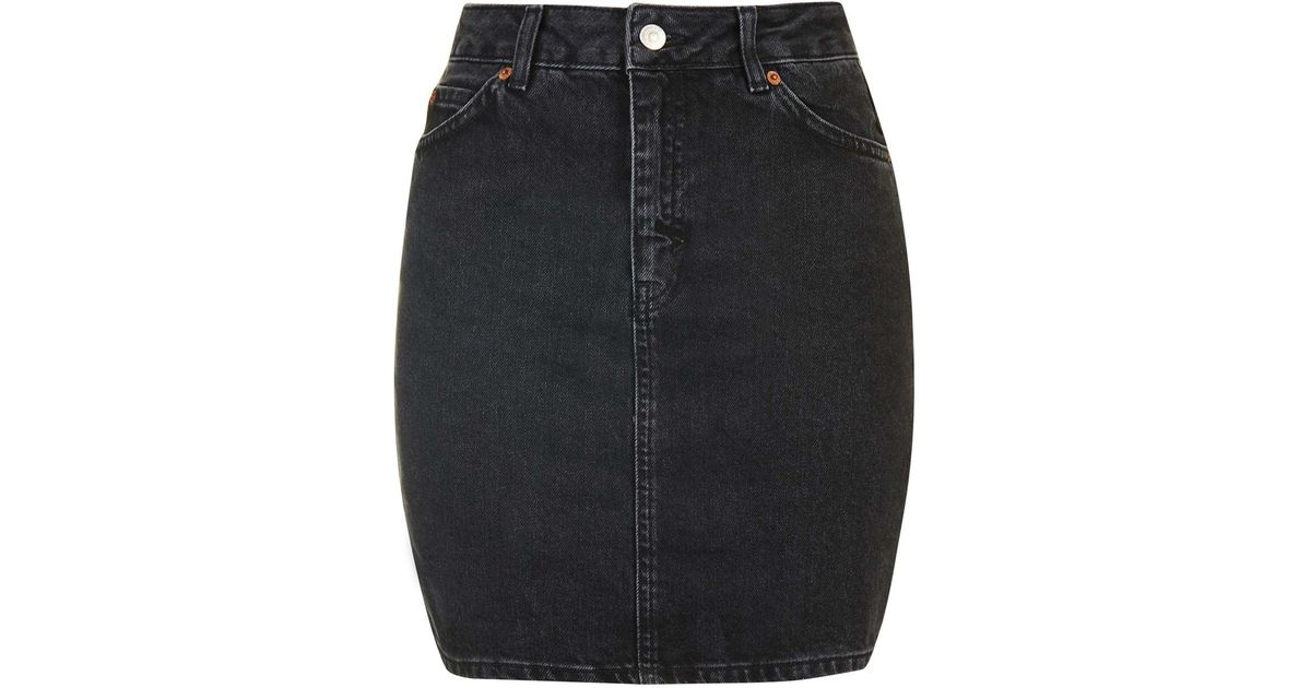 c644fdc805 TOPSHOP Moto High-waisted Mini Skirt in Black - Lyst