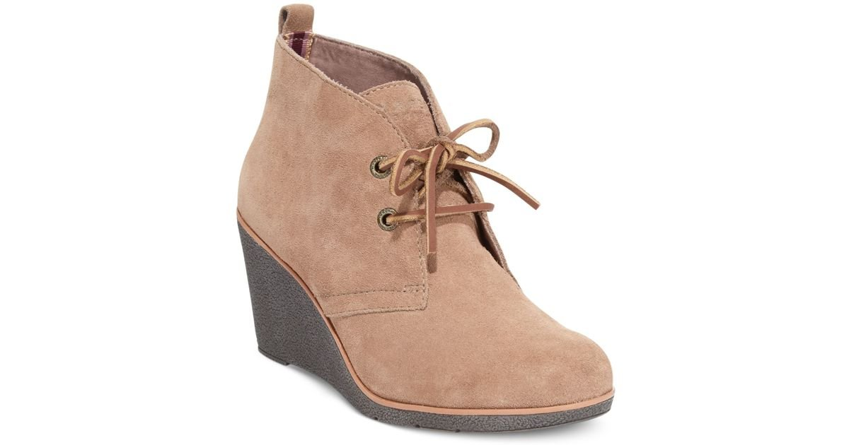 a22dbfbcef5 Lyst - Sperry Top-Sider Women S Harlow Booties in Brown