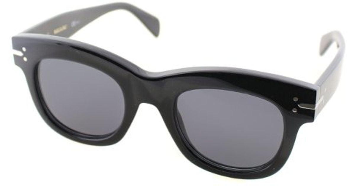 8a4d3693d8a Céline Cl 41079 s 807 Round Plastic Sunglasses in Black - Lyst