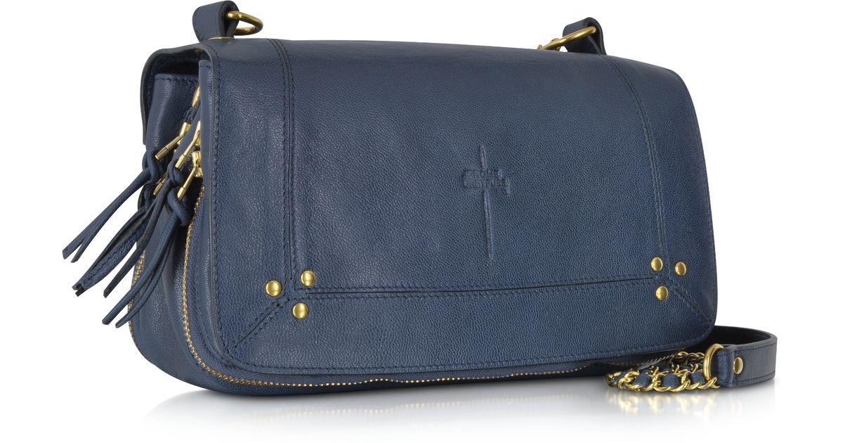 f2656b78d Jérôme Dreyfuss Bobi Blue Leather Crossbody Bag in Blue - Lyst