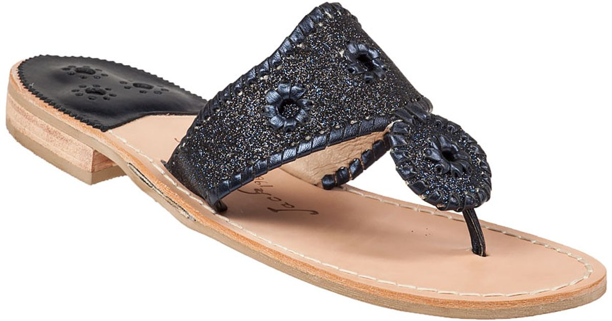 Jack Rogers Sparkle Glittered Sandals In Blue Lyst
