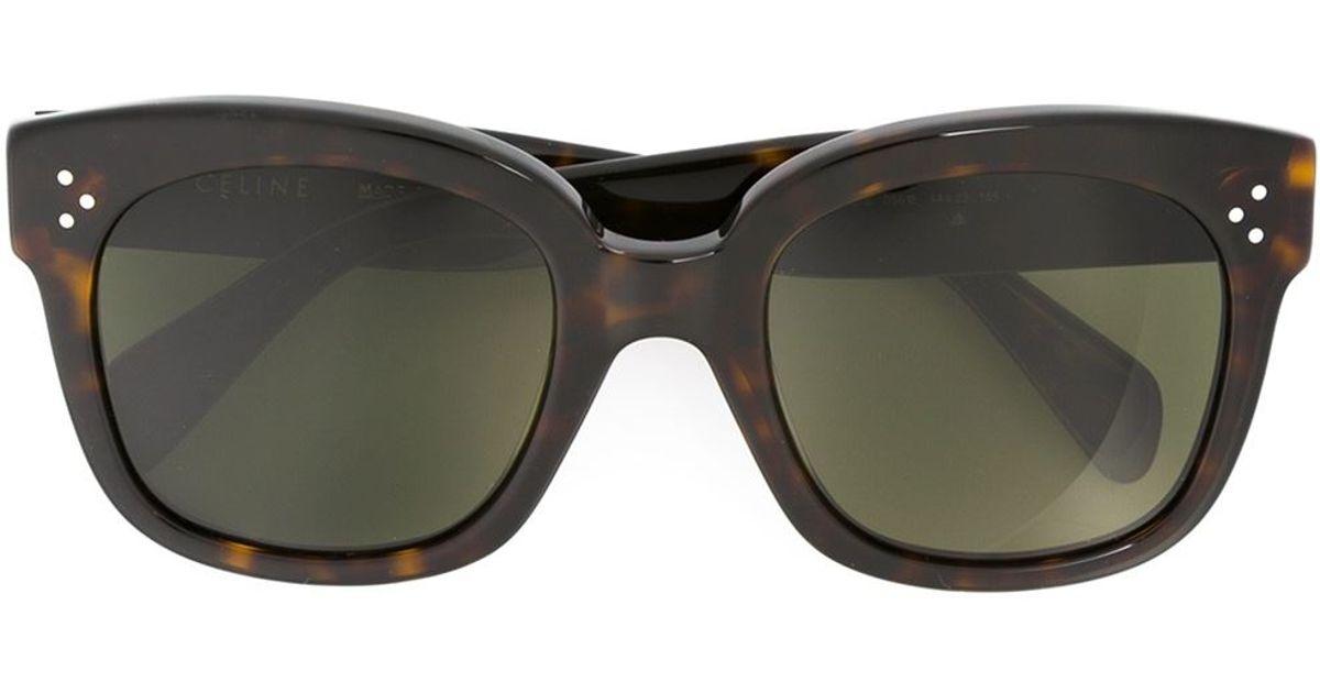 52326f09d9d Lyst - Céline  new Audrey  Sunglasses in Brown