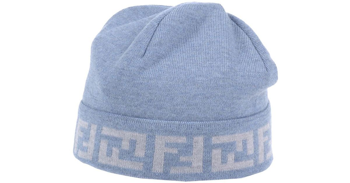 84f1938a3a4 Lyst - Fendi Hat in Blue for Men