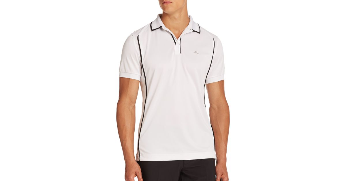 J.lindeberg Fredrik High-tech Wicking Polo in White for ...