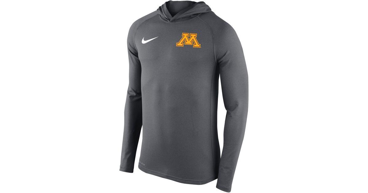 ff9823e0 Nike Men's Minnesota Golden Gophers Stadium Dri-fit Touch Hoodie in Gray  for Men - Lyst