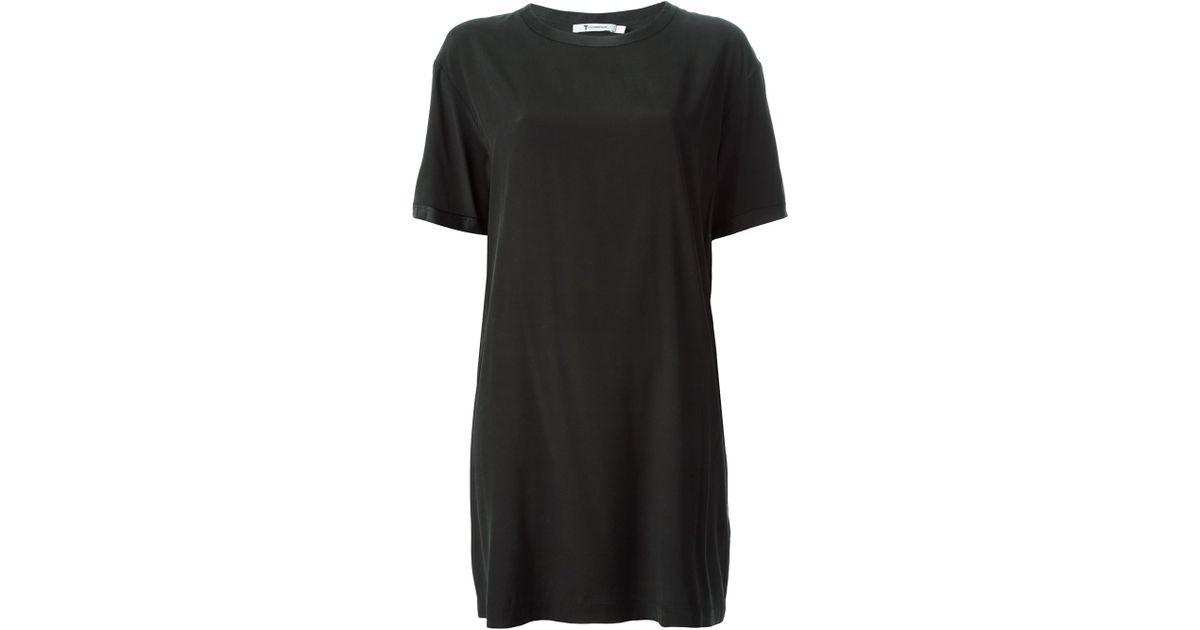 9c661535b3ee Lyst - T By Alexander Wang Loose Fit T-Shirt Dress in Black