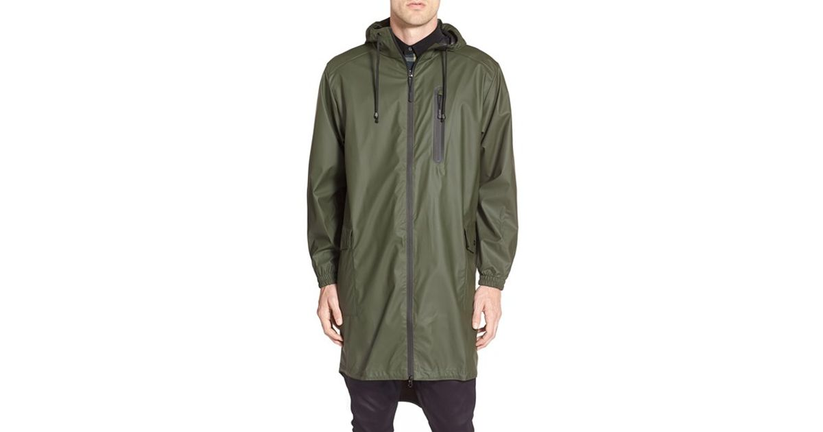 Rains Waterproof Parka Coat in Green for Men | Lyst