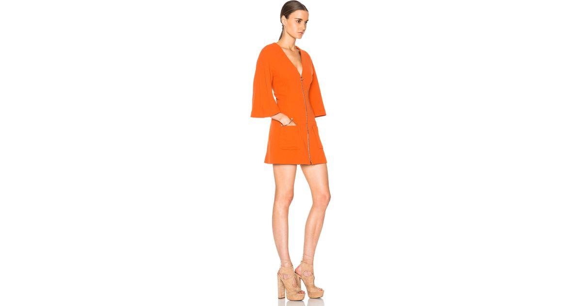 Alexis Dominique Kimono Dress in Orange | Lyst