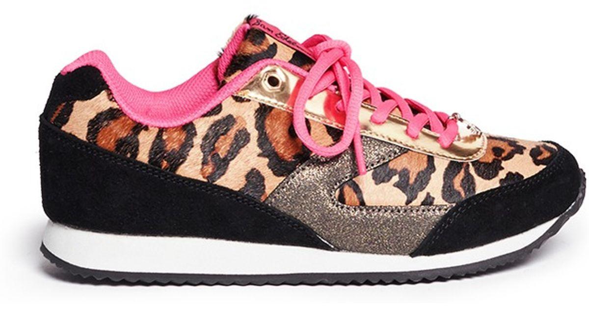 3d2d310a1f396 Lyst - Sam Edelman  Dax  Junior Leopard Print Sneakers