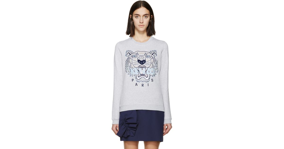 dfe087474 Lyst - KENZO Ssense Exclusive Grey Tiger Logo Sweatshirt in Gray