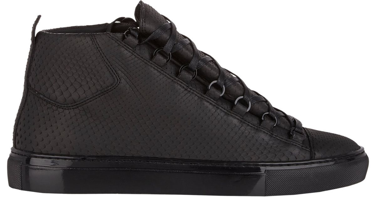44ae2aca7b8d Lyst - Balenciaga Python Arena High-top Sneakers in Black for Men