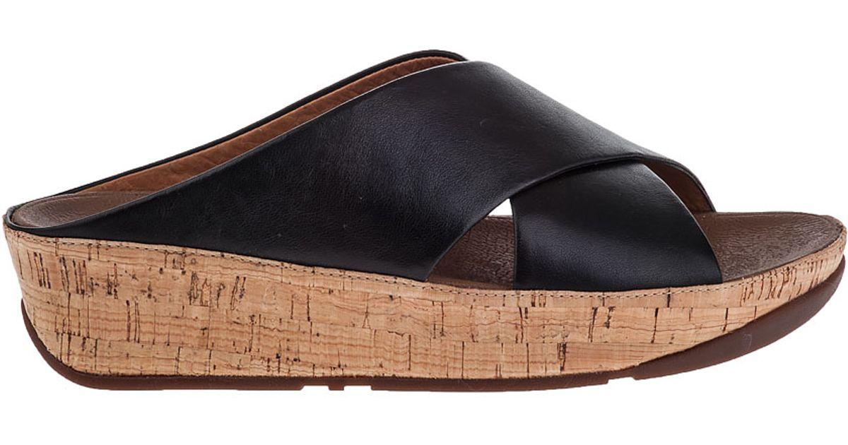 f7207073de1f4e Lyst - Fitflop Kys Slide Sandal Black Leather in Black