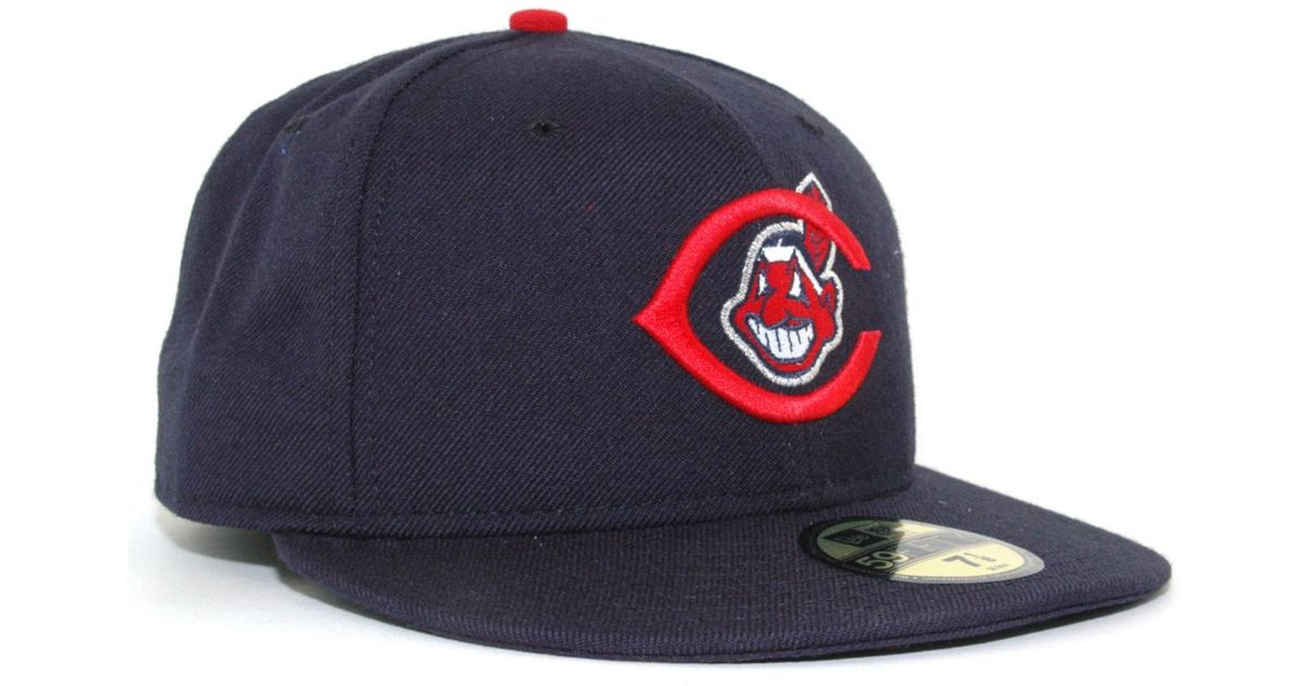 competitive price be228 63b22 ... spain lyst ktz cleveland indians cooperstown 59fifty cap in blue for men  f8031 074b6