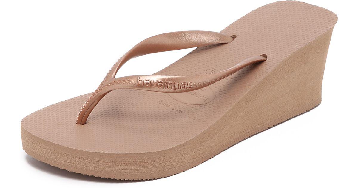 002d0dd6cd659 Lyst - Havaianas High Fashion Wedge Flip Flops