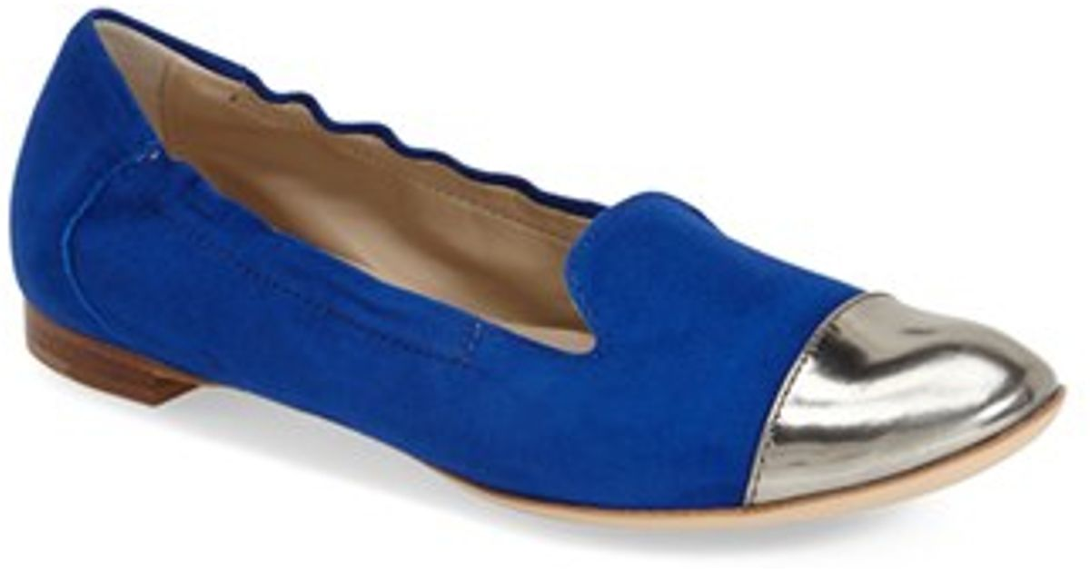 Agl Toe Cap Ballet Flats In Blue Nickel Electric Lyst
