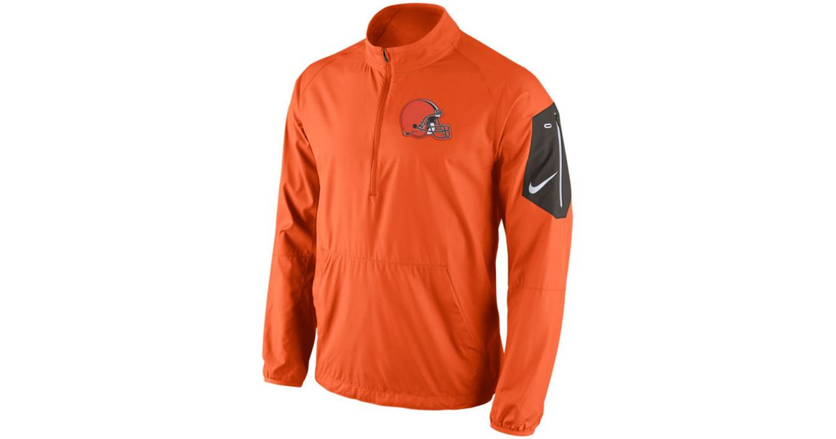 Nike Menu0026#39;s Cleveland Browns Lockdown Half-zip Jacket in Orange for Men | Lyst