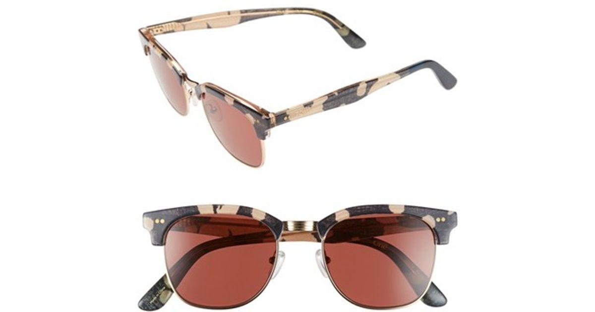 1013ee9ee106 Lyst - TOMS  gavin  50mm Retro Sunglasses - Indigo Abstract  Vermillion in  Purple