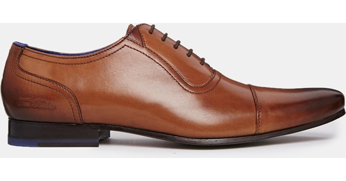 Murain Leather Oxford Shoes In Brown - Brown Ted Baker bjq68