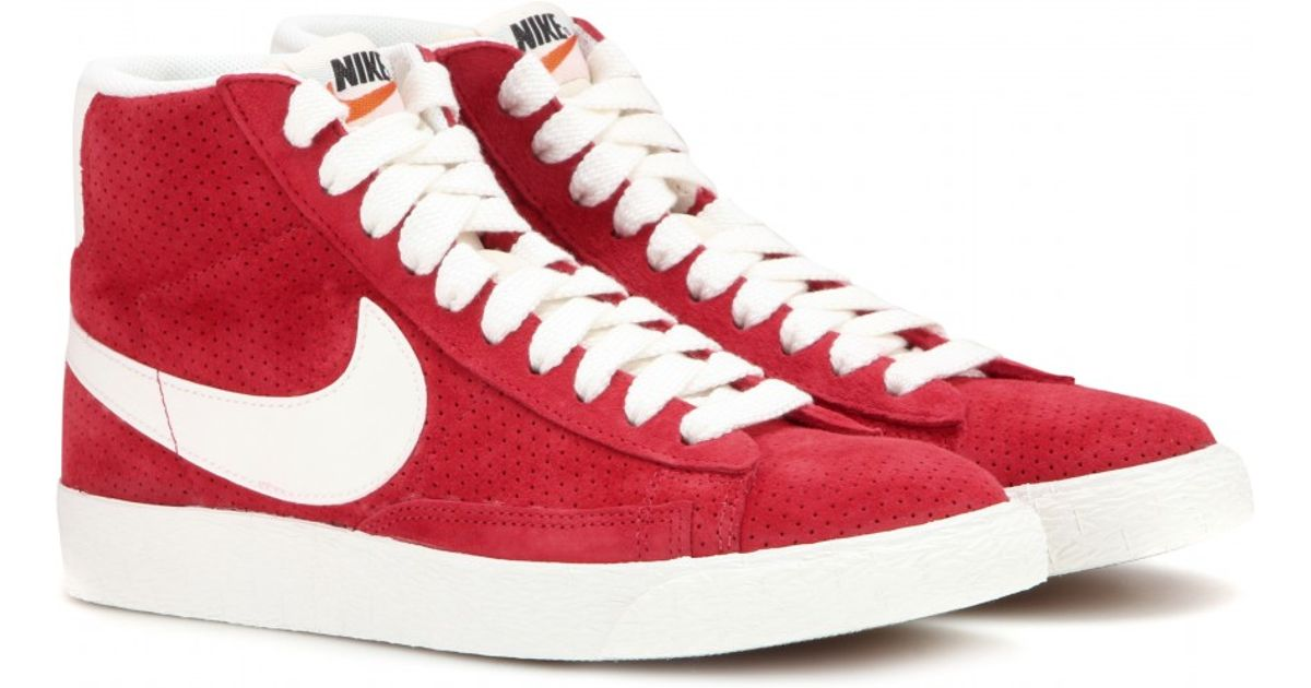promo code c2f57 61e9f Nike Blazer Mid Vintage Suede High-top Sneakers in Red - Lyst