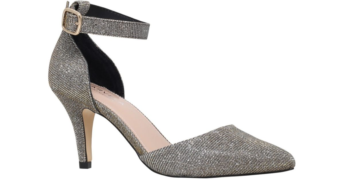 b7c3c28ce3c Carvela Kurt Geiger Kandice Suedette Court Shoes in Metallic - Lyst