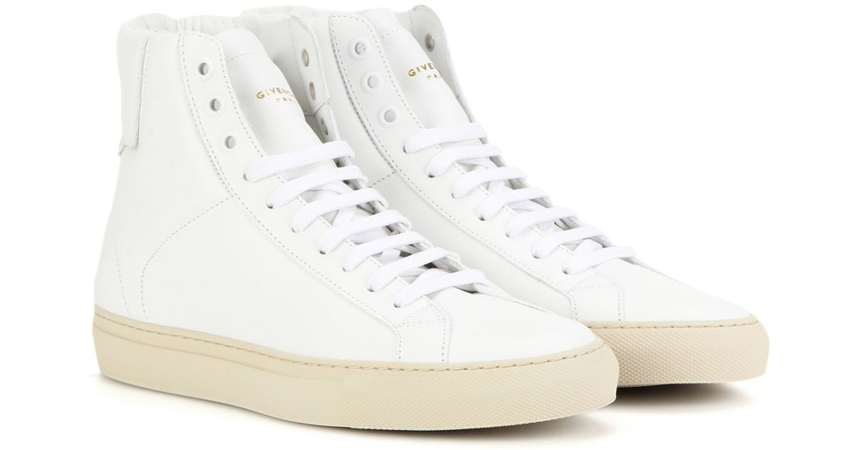 Lyst Givenchy Urban Knots High Top Leather Sneakers In White