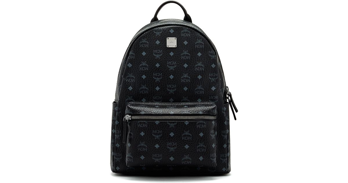 mcm stark no stud medium backpack in black