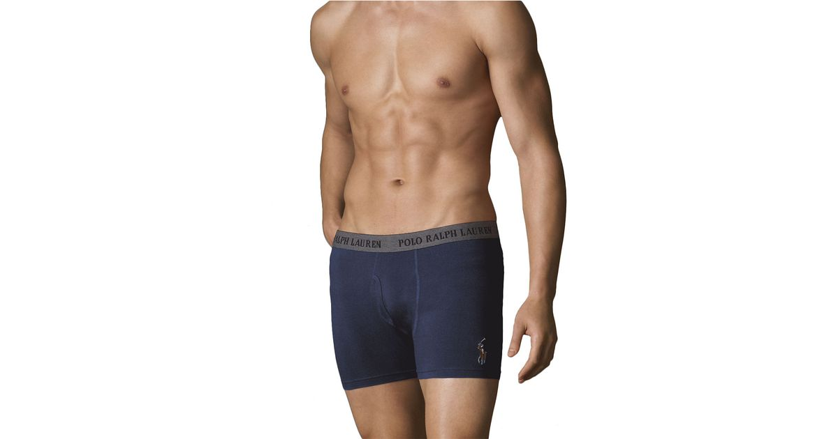 polo ralph lauren boxer briefs in blue for men lyst. Black Bedroom Furniture Sets. Home Design Ideas