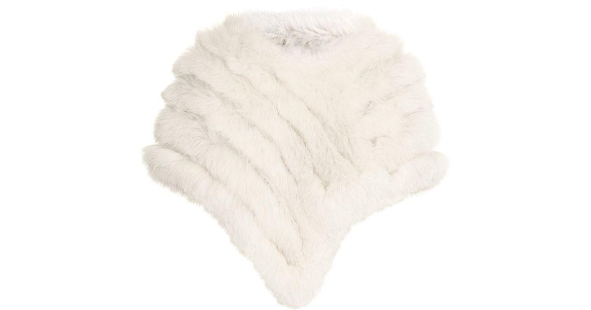 96d51f6df8f Lyst - Gucci Fox Fur Poncho in White