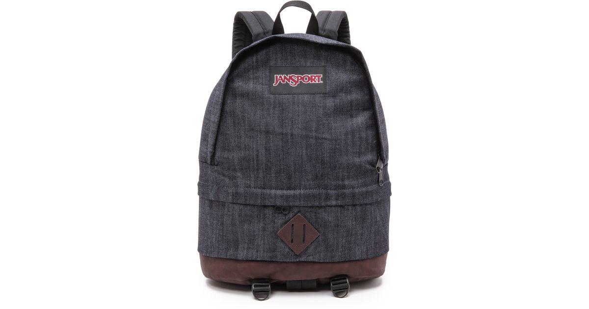 Lyst - Jansport Classic Beatnik Backpack Blue Denim in Blue