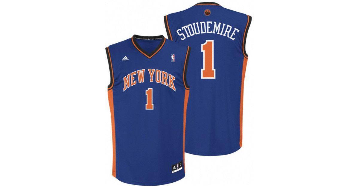 8e11d59a3d0 Lyst - adidas Men s Amar e Stoudemire New York Knicks Revolution 30  Swingman Jersey in Blue for Men
