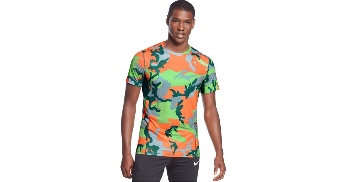 8416b2f10dc1 Lyst - Nike Hypercool Dri-fit Camo T-shirt in Green for Men