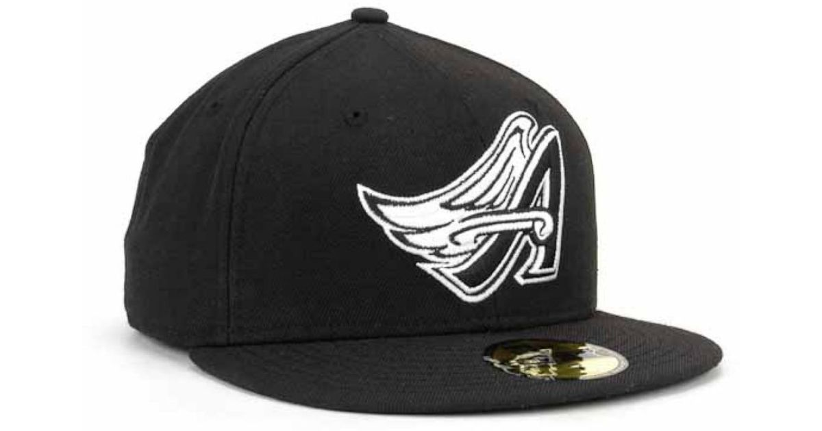 Lyst - Ktz Los Angeles Angels Of Anaheim Mlb Black And White Fashion  59fifty Cap in Black for Men 345861f10070