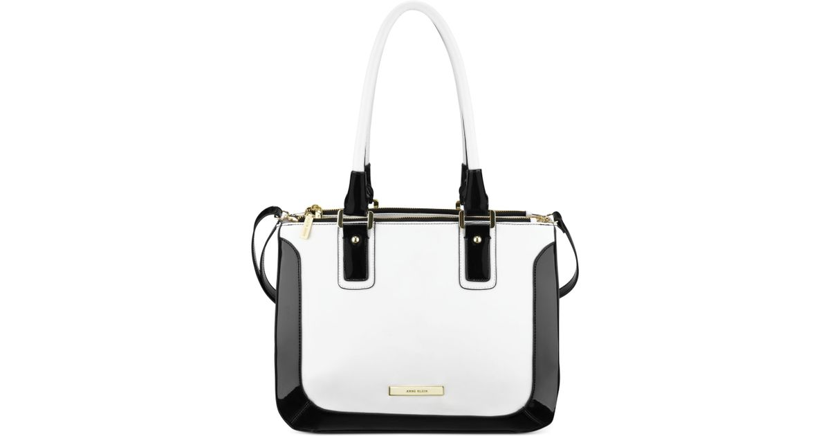 Anne klein High Definition Large Satchel in Black | Lyst